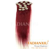 Popular em Europa Human Hair Clip em Hair Extension (FDX-YY-KBL)