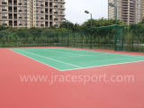 Silikon PU-nahtlose Entwurfs-Tennis-Gerichts-Oberfläche