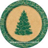 Placas de cena de papel de la fiesta de Navidad