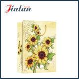 Glatter lamellierter überzogenes Papier-Sonnenblume-preiswertes Einkaufen-Geschenk-Papierbeutel