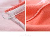 A roupa das meninas da mola 100%/outono do algodão fêz malha Cardign em linha