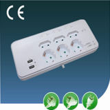 Onde à front raide-Proof Outlet Power européen Socket avec l'USB