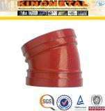 300 LPC de fer malléable ferrures de coude Grooved de 45 degrés