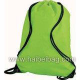 O Drawstring relativo à promoção de nylon ostenta o saco da ginástica da trouxa (HBDR-72)