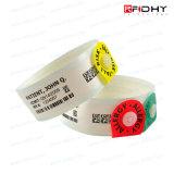 Bracelet remplaçable à application unique de PVC d'IDENTIFICATION RF étrangère de H3 pour le club