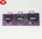 De Kabel van usb- Gegevens met de Verpakking van de Liefde Braidedand