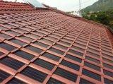 azulejo de azotea solar agitado gris oscuro 8W
