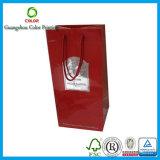Insignia impresa bolso de empaquetado de papel de las ventas al por mayor