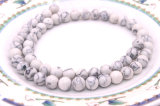 4 6 8 10 12 14 16mm 합성 백색 도매 터키석 돌의 둘레에 공장 공급 가격