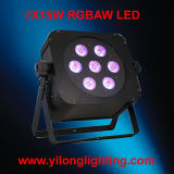 7X15W Rgbaw 5in1 inalámbrico hasta LED PAR luces