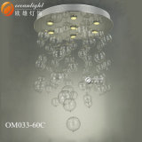 Chrom-galvanisierter glatter Glaskugel-Glasluftblasen-Leuchter Om033