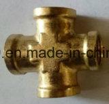 Guarnición de cobre amarillo del PAA de la cruz del tubo de la flama del NPT