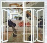 Porte en aluminium de chambre à coucher de qualité de porte de pliage de garantie