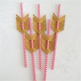 La alta calidad de la categoría alimenticia de flecha colorido de la paja de papel de etiquetas de bebida de Cupido