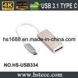 O tipo o mais novo C do USB 3.1 da alta velocidade ao adaptador do Dp