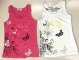 소녀 소매 없는 t-셔츠 조끼 (SV-021-026)에 있는 형식 아이 옷
