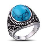 La moda de joyería anillo de dedo grande de la turquesa
