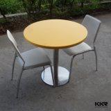 Kingkonreeの現代円形の黄色い固体表面のコーヒーテーブル