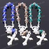 De Gemengde Kleur van de manier Juwelen Armband van het Kristal van 6mm Sectie de Zilveren Godsdienstige