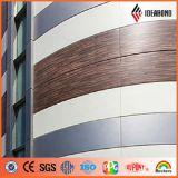 15 da garantia PVDF anos de painel composto de alumínio do teste padrão de madeira