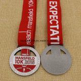 Médaille du passage 5k 10k de Mansfield en métal de médaillon de modèle d'Uniqe