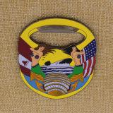 栓抜きが付いているカスタム金属3Dの記念品の栓抜きの挑戦硬貨