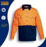 100% قطر كم طويلة [هي] [فيس] نسيج قطنيّ أمان عمل قميص