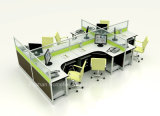 Перегородка рабочей станции линейного офиса способа алюминиевая с стеклом (HF-YZ028)
