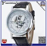 Вахты полосы вахты неподдельной кожи wristwatches людей новой конструкции Yxl-838 2016 лидирующие золотистые каркасные автоматические