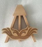 L'étagère en bois du thé mis