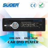 Speler Één van de Auto DVD van het Comité van de Prijs Enige DIN van de Fabriek van Suoer Afneembare de VideoSpeler van de Auto DVD van DIN (8803-blauw)