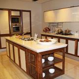 Pedra artificial material de quartzo da bancada da cozinha da fábrica da laje de Calacatta