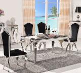 Tabella pranzante di marmo stabilita della sala da pranzo domestica della mobilia