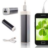 립스틱 상자 2600mAh 이동 전화 건전지 iPhone를 위한 휴대용 힘 은행