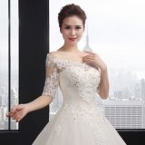 O-Neck een Line Lace op Wedding Dress (SLD001)