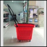 Panier à provisions de supermarché avec la roue