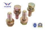 Sprung-Verschluss, Unterlegscheiben und Hex Schraube mit Farben-Zink