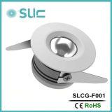 1W家具の円形のスライバクリー族チップ(SLCG-F001)が付いているアルミニウム食器棚ライト