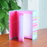 Caderno/artigos de papelaria os mais atrasados coloridos da impressão do Hardcover