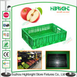 Vegetais do supermercado e caixas dobráveis das frutas