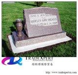 Granito europeo /Marble di stile con il Headstone dritto, pietra tombale