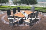 Giardino Outdoor Furniture Chair e Table di Rattan Wicker Furniture del PE