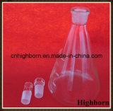 Flacone erlenmeyer Libero di vetro di Borosilicate con sughero per il laboratorio
