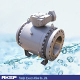 API 6D High Pressure Forged Steel Trunnion Flange Ball Valve
