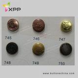 Plata plateada botón del oro del tornillo de metal