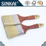Escova de cabelo natural do porco com a escova de pintura de madeira