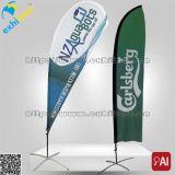 Изготовленный на заказ дешевые флаги пера пляжа печатание цифров