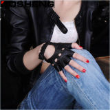 Guantes de cuero Fingerless sin forro de señora Gloves Driving Cycling Gloves