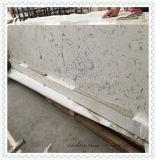 Controsoffitto della cucina del quarzo (marmo artificiale e bianco di Qauartz)