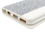 Mobile Cell Phone를 위한 Card Holder를 가진 백색 Diamond Leather Case